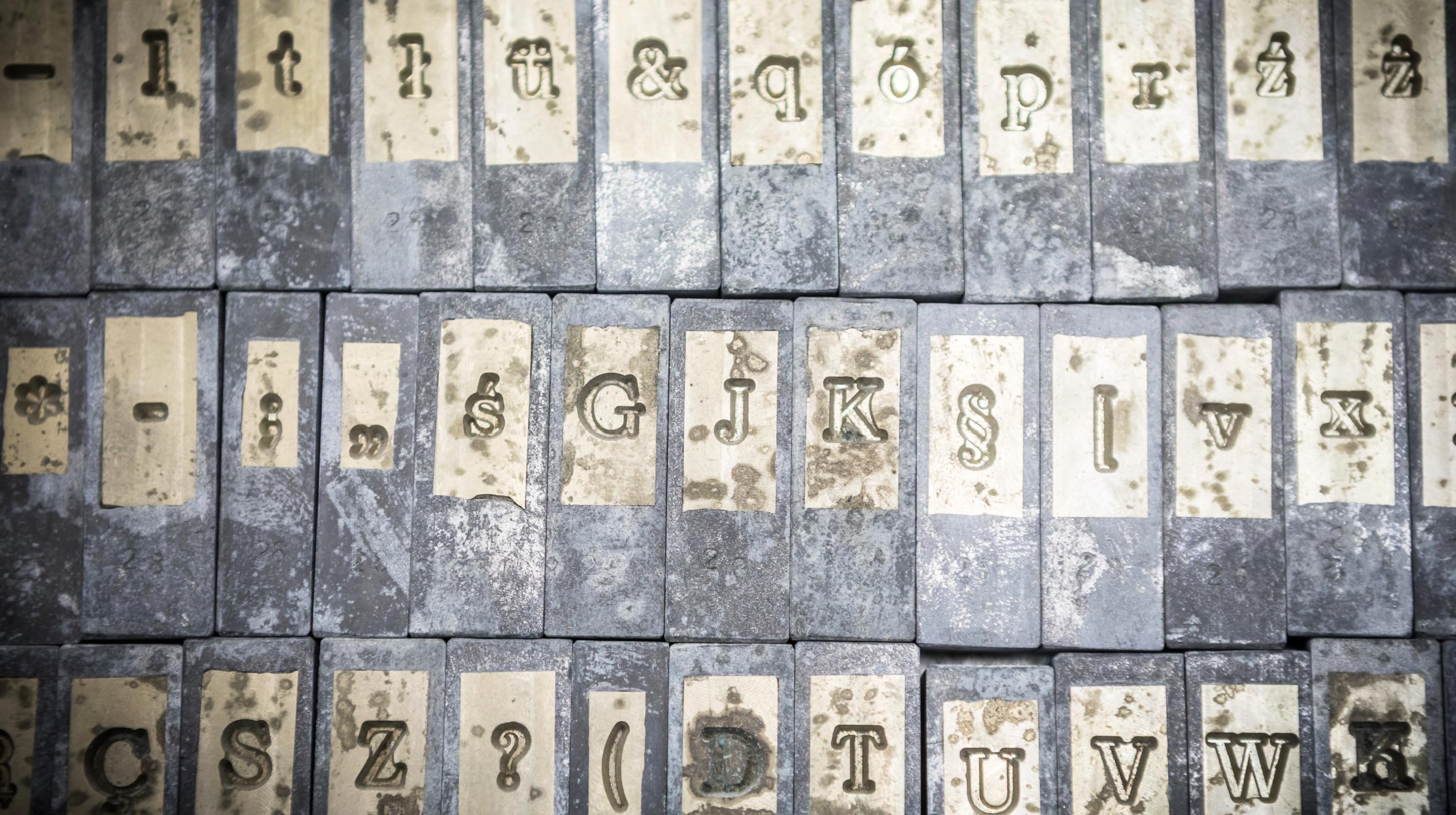 old molds with letters