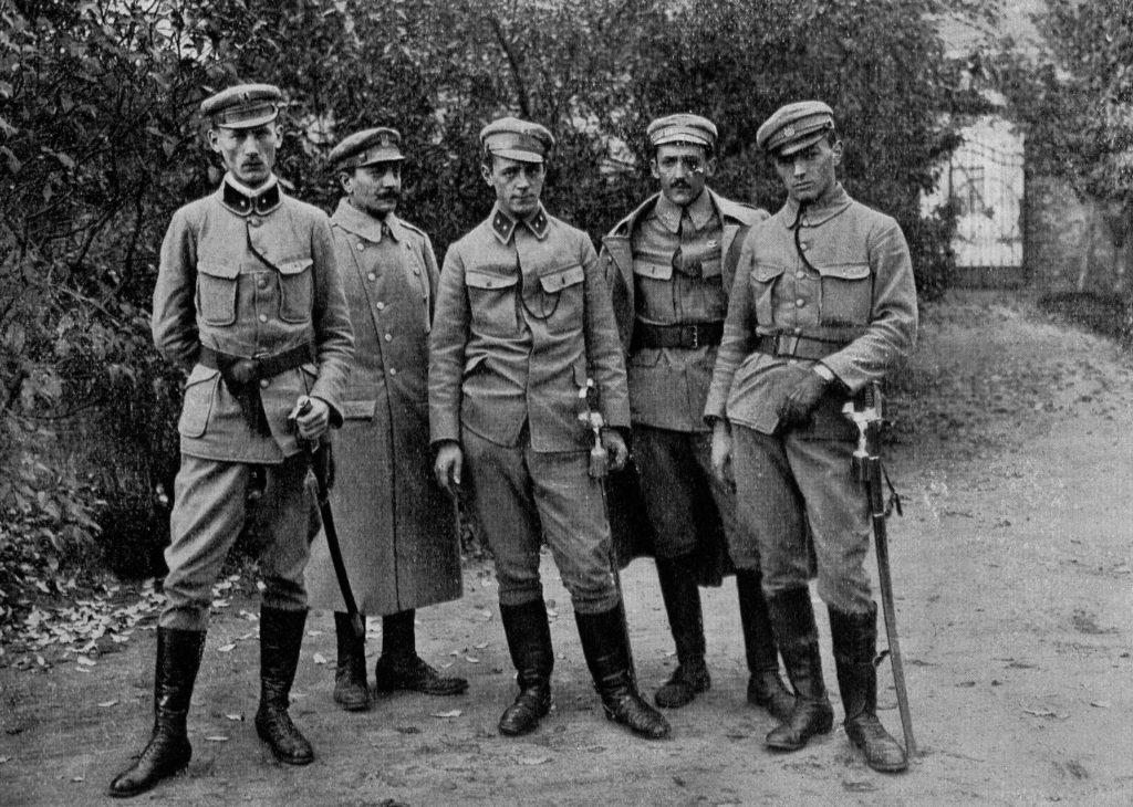 Grupa oficerów legionowych (domena publiczna)