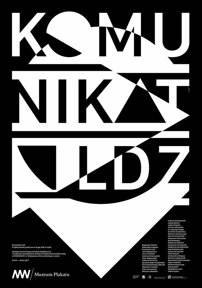 Plakat wystawy KOMUNIKAT LDZ