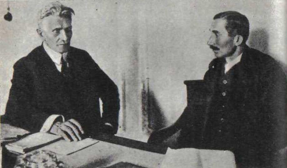 Witos i Daszyński - premier i wicepremier Rządu Jedności Narodowej (domena publiczna)