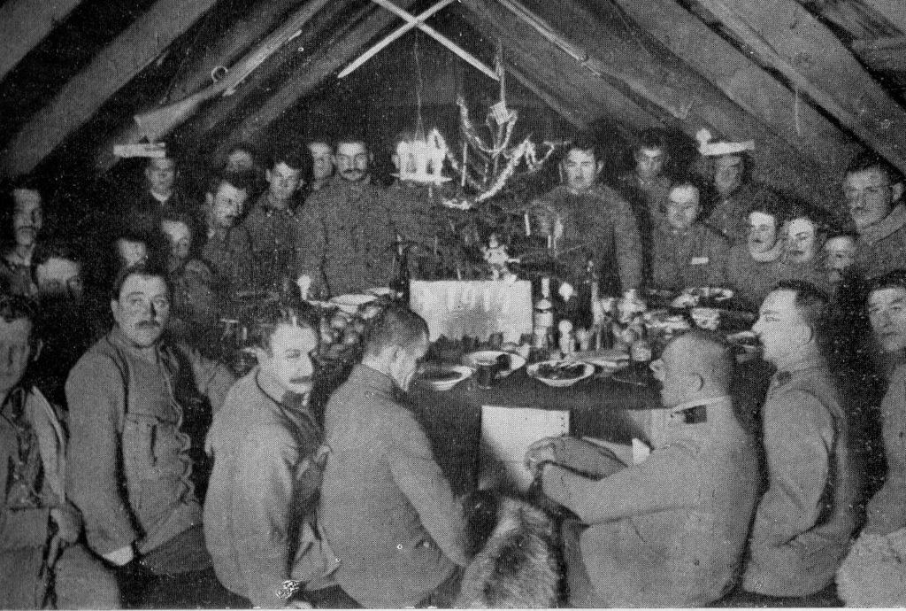 Sylwester z 1914 na 1915 II Brygady Legionów w Karpatach . Domena publiczna