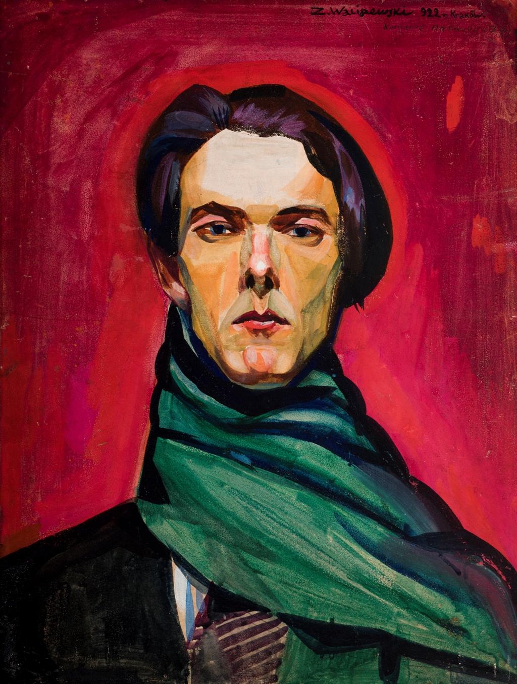 Zygmunt Waliszewski, Autoportret, 1922, tempera na tekturze, fot MNK