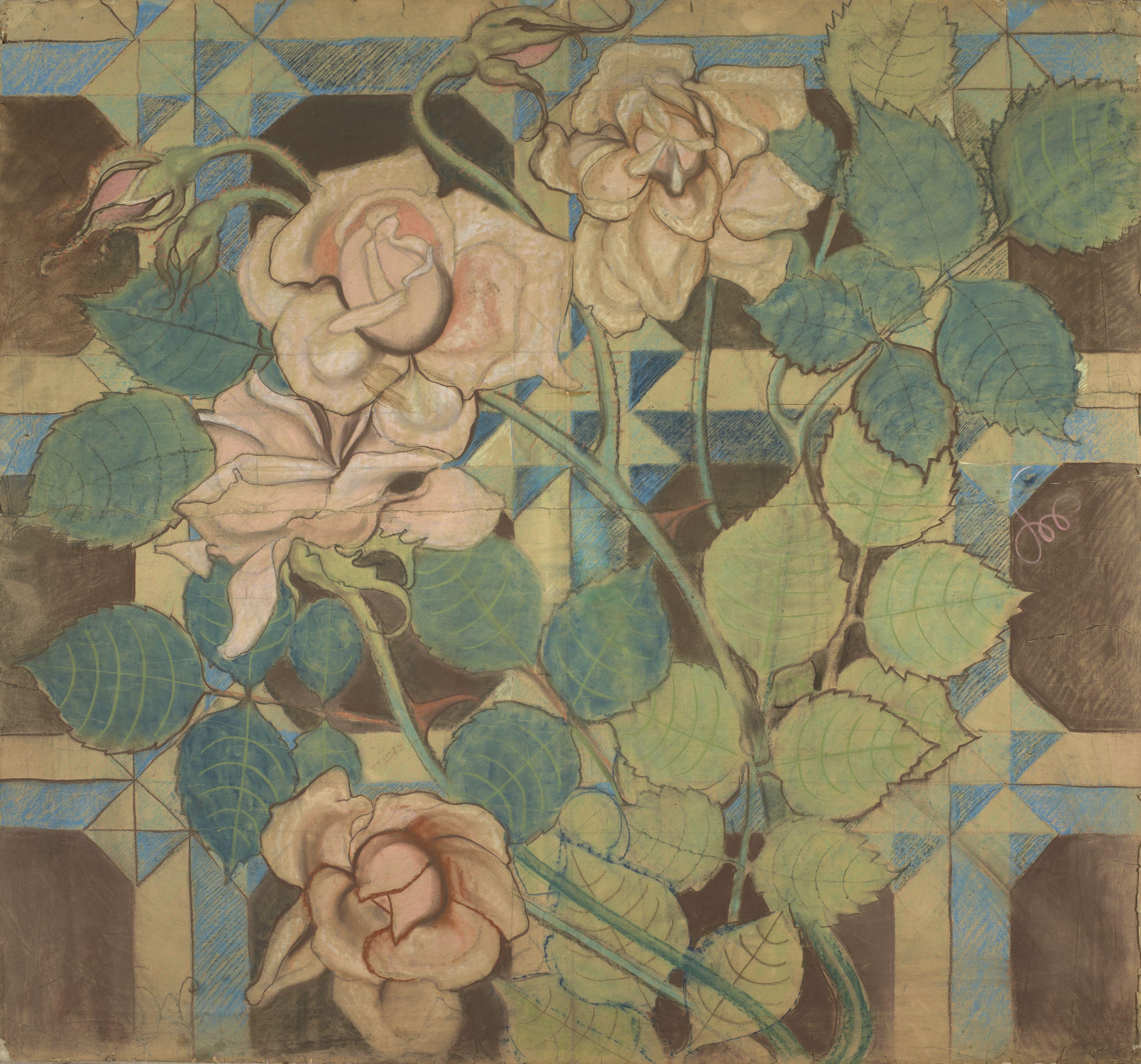 Róże, projekt dekoracji malarskiej, projekt. fot. MNK