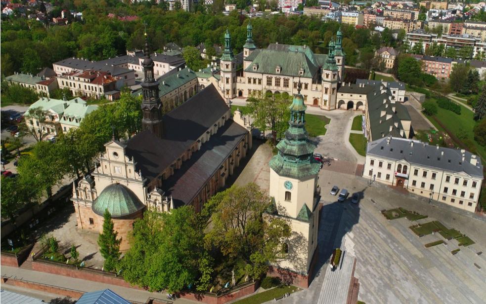 Kielce, dawny pałac biskupów i katedra, fot. Sz. Pawlak 2017, wł. NID