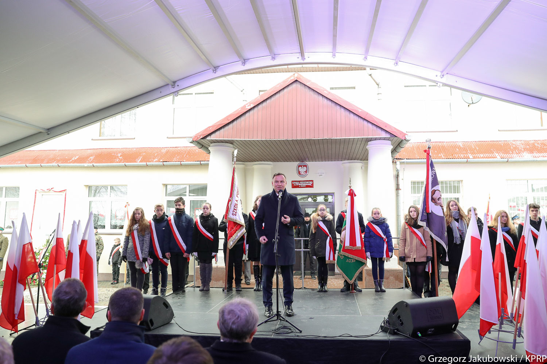 Prezydent Andrzej Duda na obchodach 100-lecia Odzyskania Niepodległości w Stróży, źródło: www.prezydent.pl