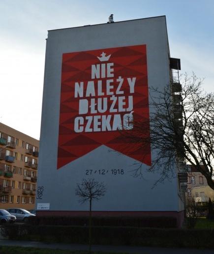 Mural w Lesznie, zdjęcie: MBWA, 2017