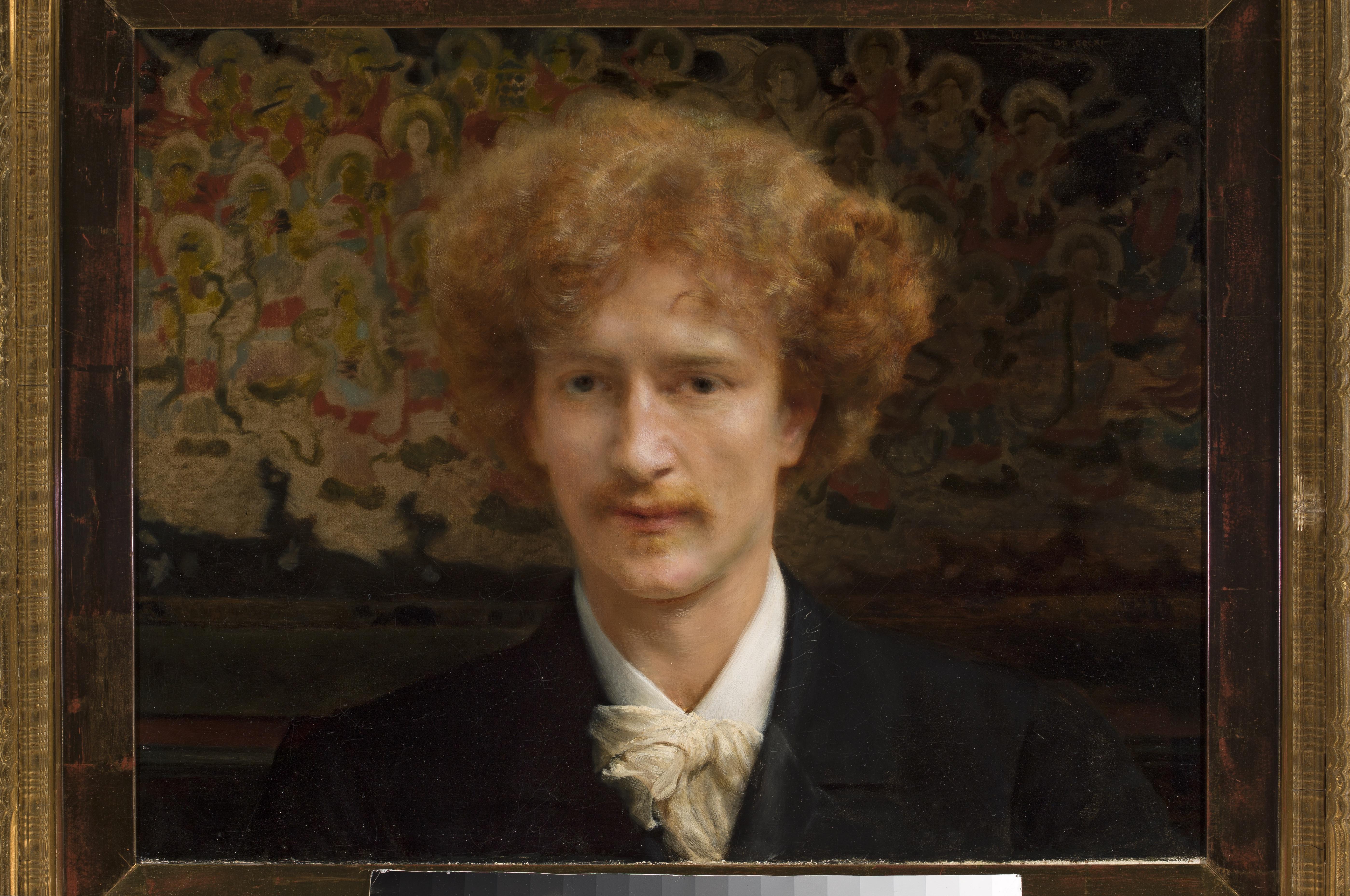 Lawrence Alma-Tadema (1836–1912), Portret Ignacego Jana Paderewskiego Anglia, 1890 r., olej na płótnie, 45,5 x 59 cm, fot. Krzysztof Wilczyński © Muzeum Narodowe w Warszawie