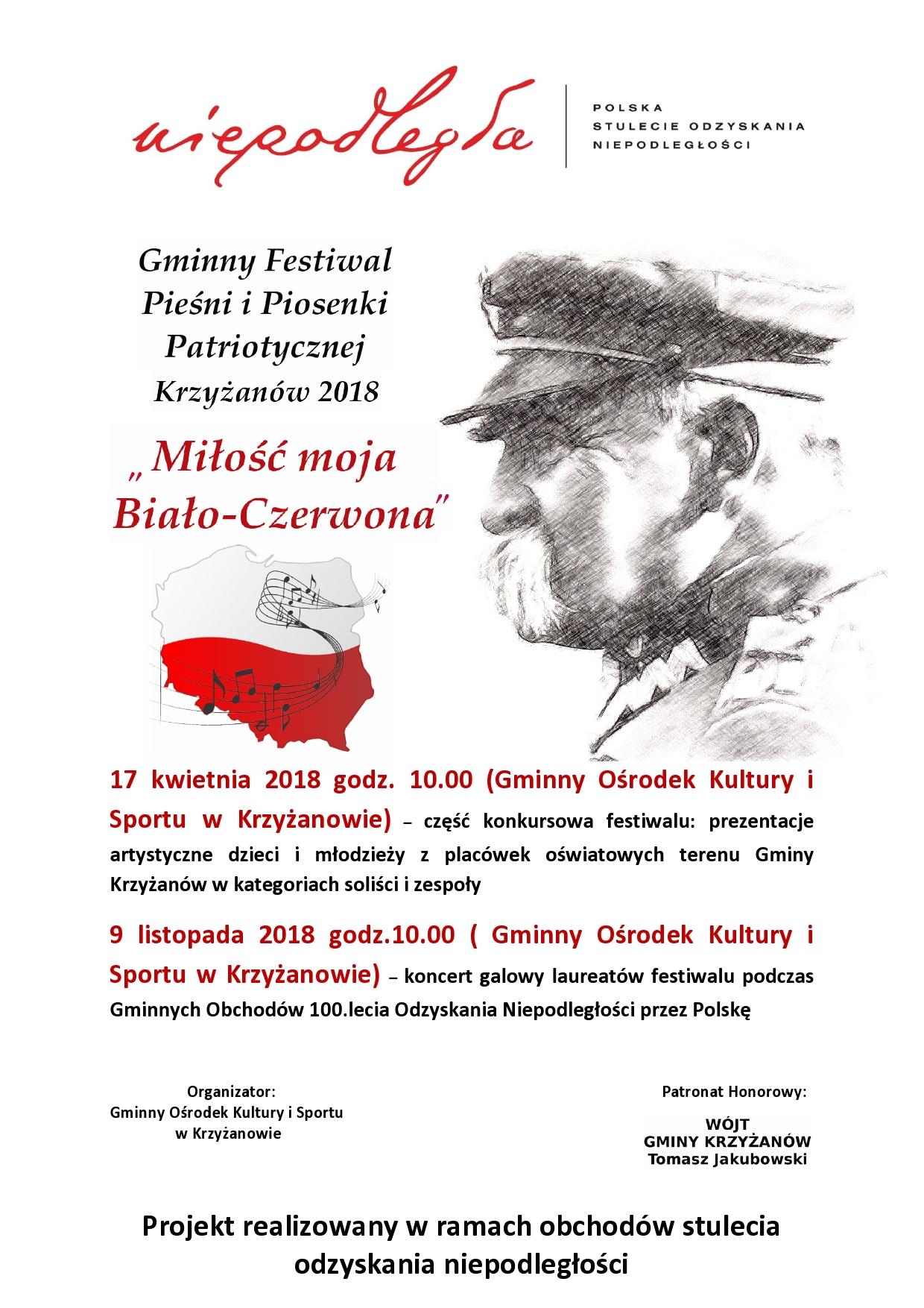 plakat z Piłsudskim