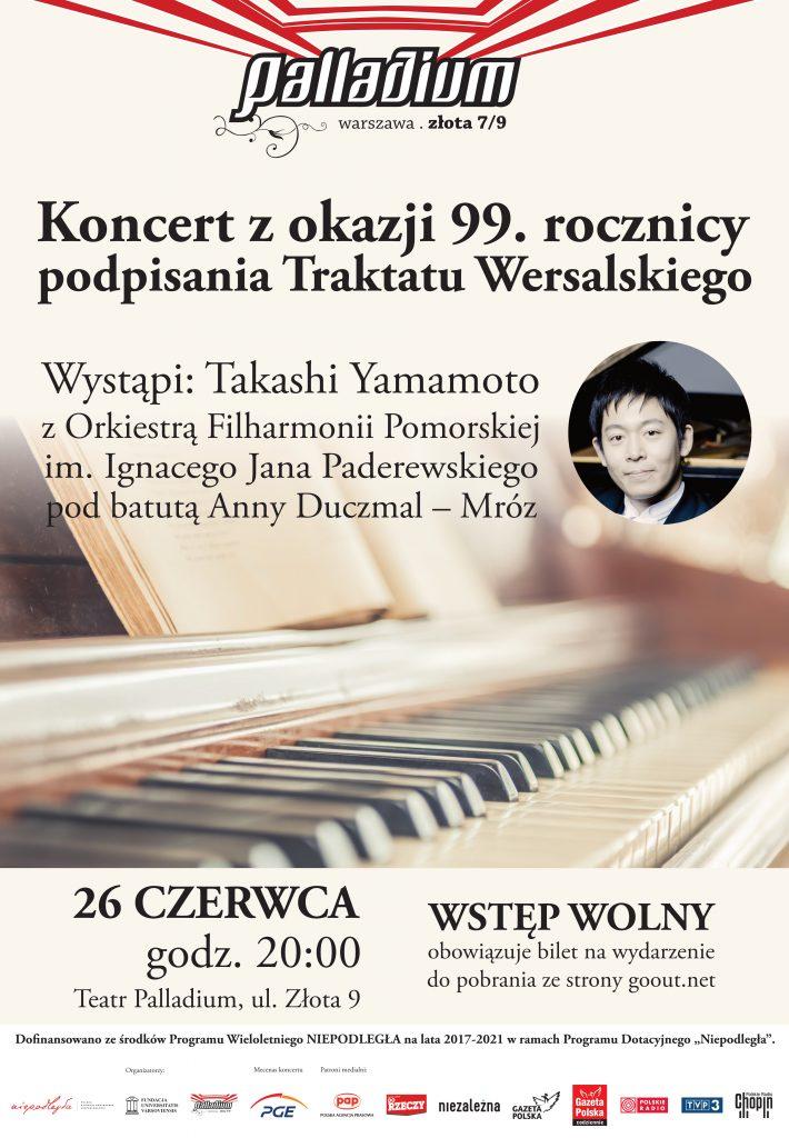 Plakat Koncertu z okazji 99 rocznicy podpisania traktatu wersalskiego