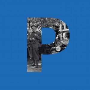 niebieska okładka z literką P