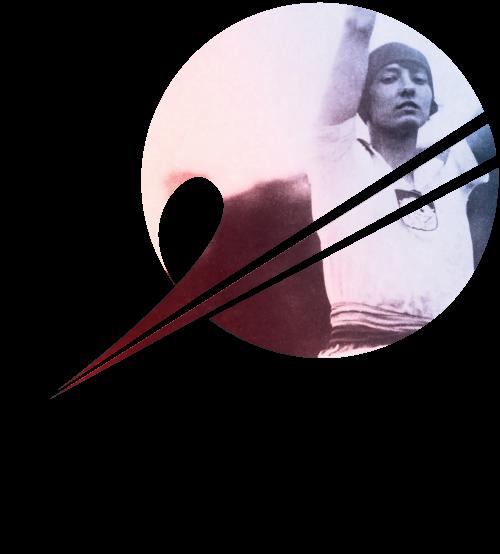 Logo wystawy Konopacka. Z radości życia