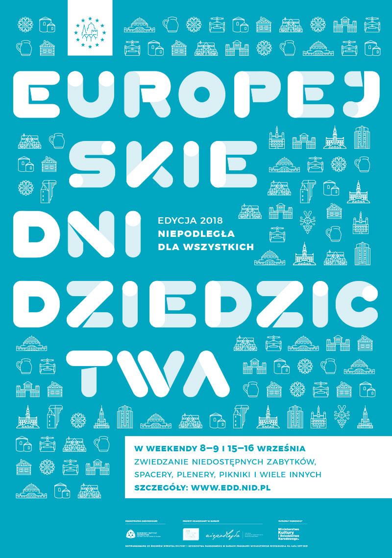 niebieski plakat z nazwą imprezy