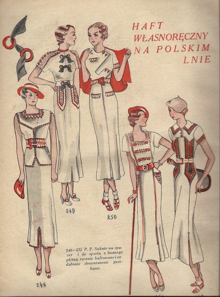 szkice dam w polskich eleganckich projektach