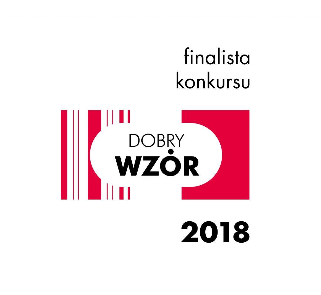 logo finałowe Dobrego Wzoru 2018 z czerwonymi paskami