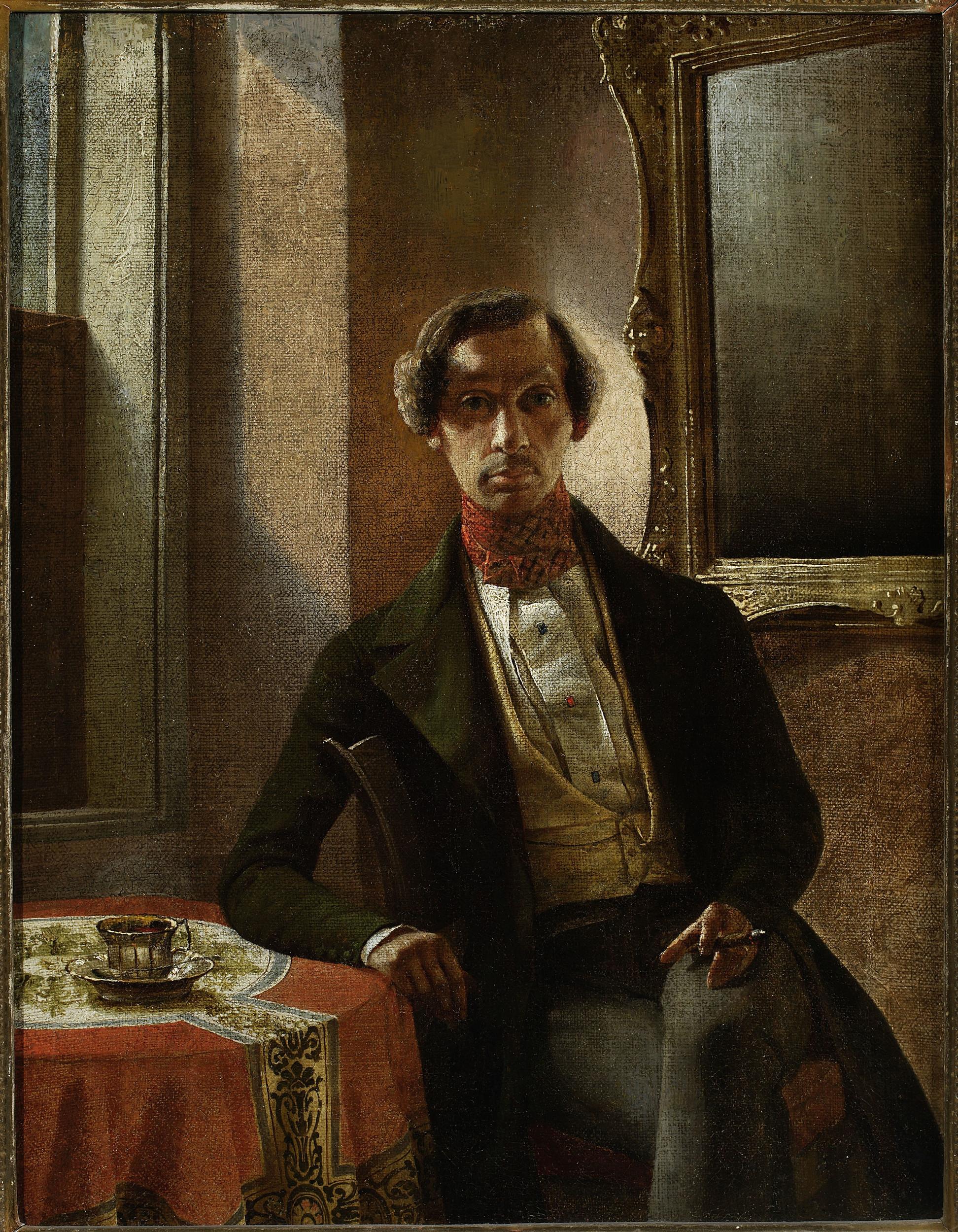 zdjęcie obrazu z autoportretem Zaleskiego