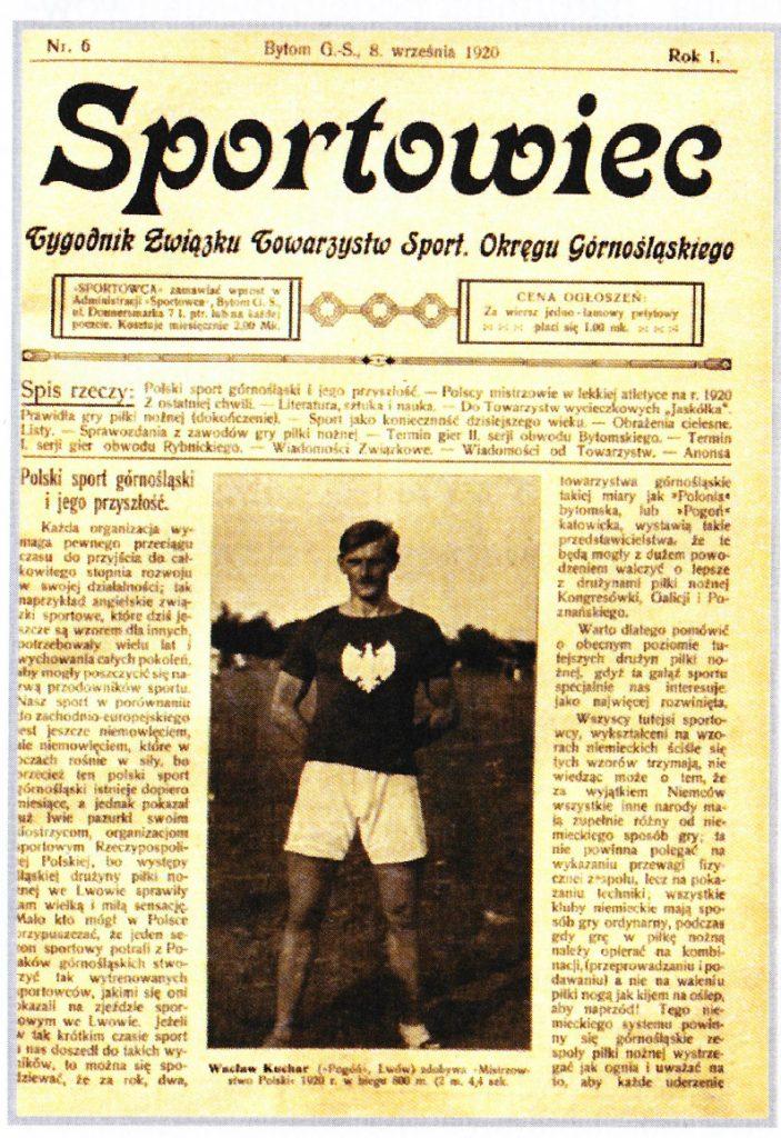 frontowa strona gazety z lat dwudziestych