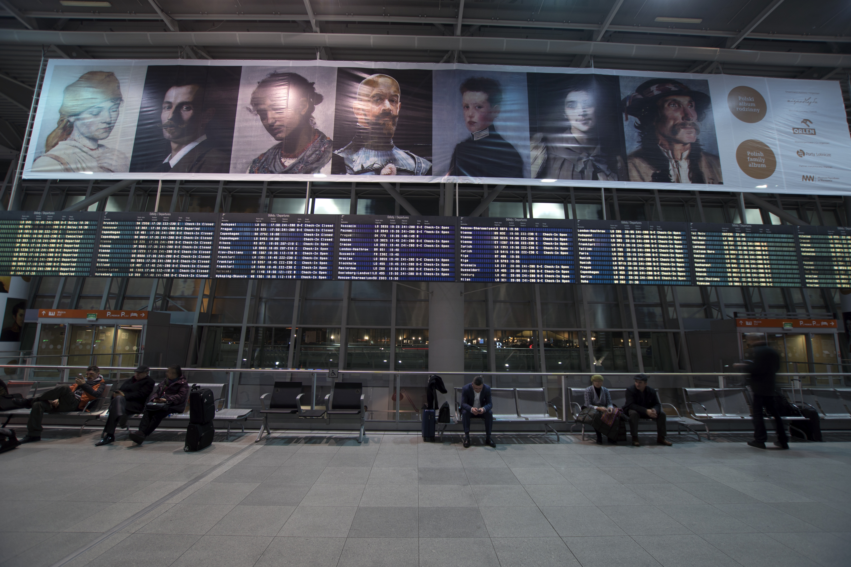 zdjęcie wystawy na lotnisku