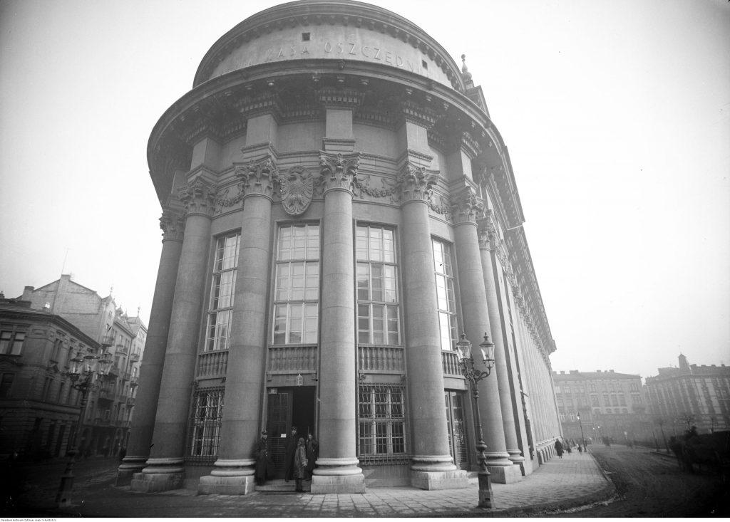 Gmach Pocztowej Kasy Oszczędności w Krakowie, po 1927 r., Narodowe Archiwum Cyfrowe