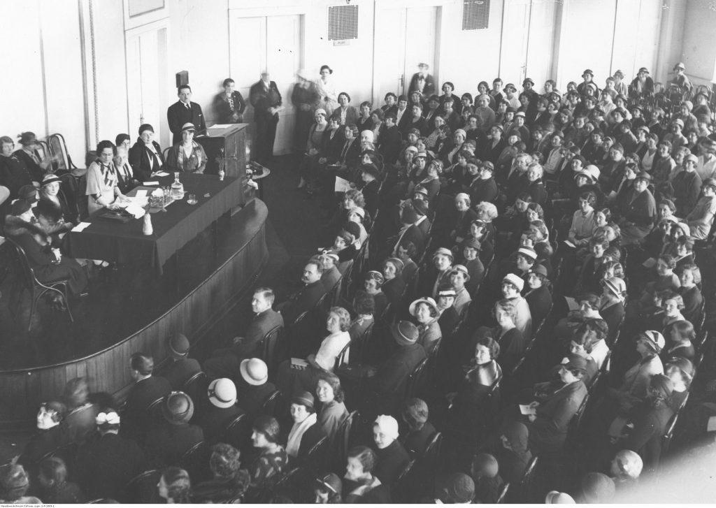 Zjazd walny warszawskiego Zrzeszenia Związku Pracy Obywatelskiej Kobiet, 21 maja 1933, Narodowe Archiwum Cyfrowe