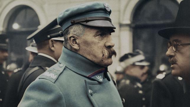 """kadr z filmu """"Niepodległość 1918"""", Józef Piłsudski"""