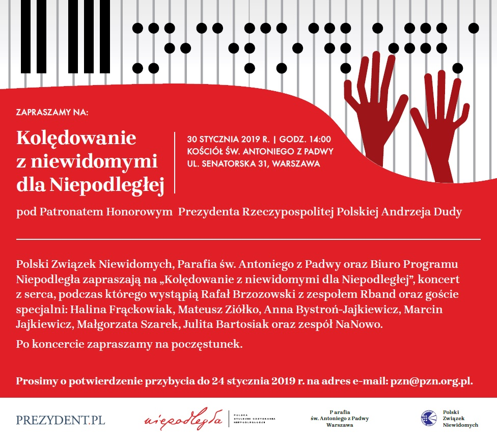 grafika z klawiaturą fortepianu i dłońmi, a pod nimi informacje dotyczące konkursu