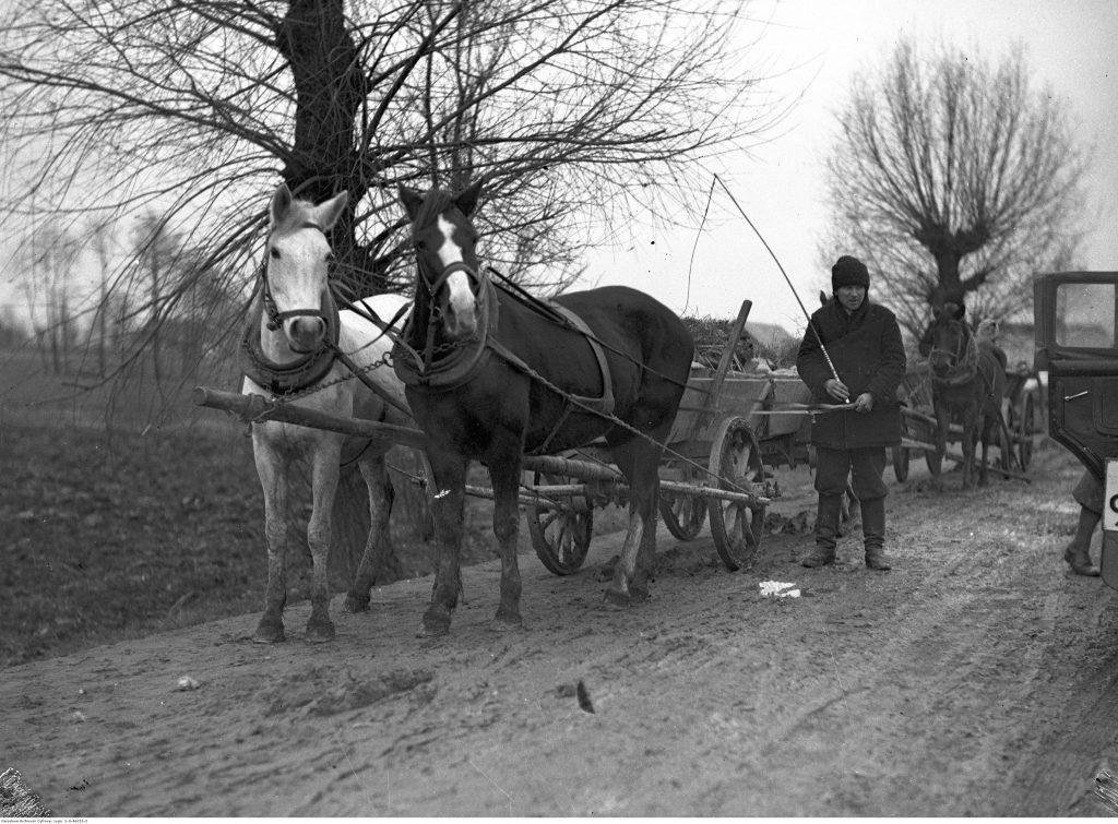 Furmanki konne na drodze (1934), fot. Narodowe Archiwum Cyfrowe