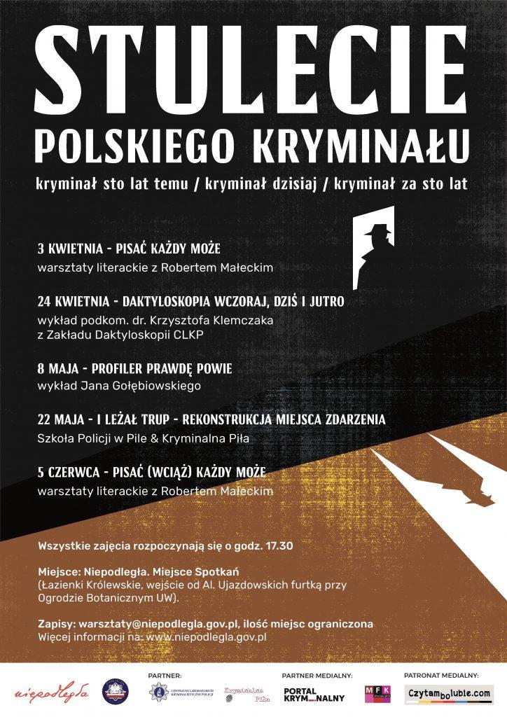 plakat z rozpisanymi datami i tematami warsztatów