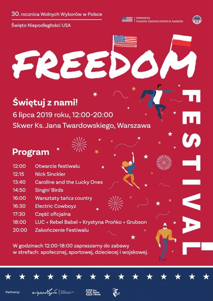 Freedom Festival Wspólne świętowanie W Warszawie