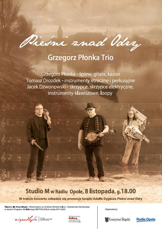 Plakat promujący koncert Pieśni znad Odry