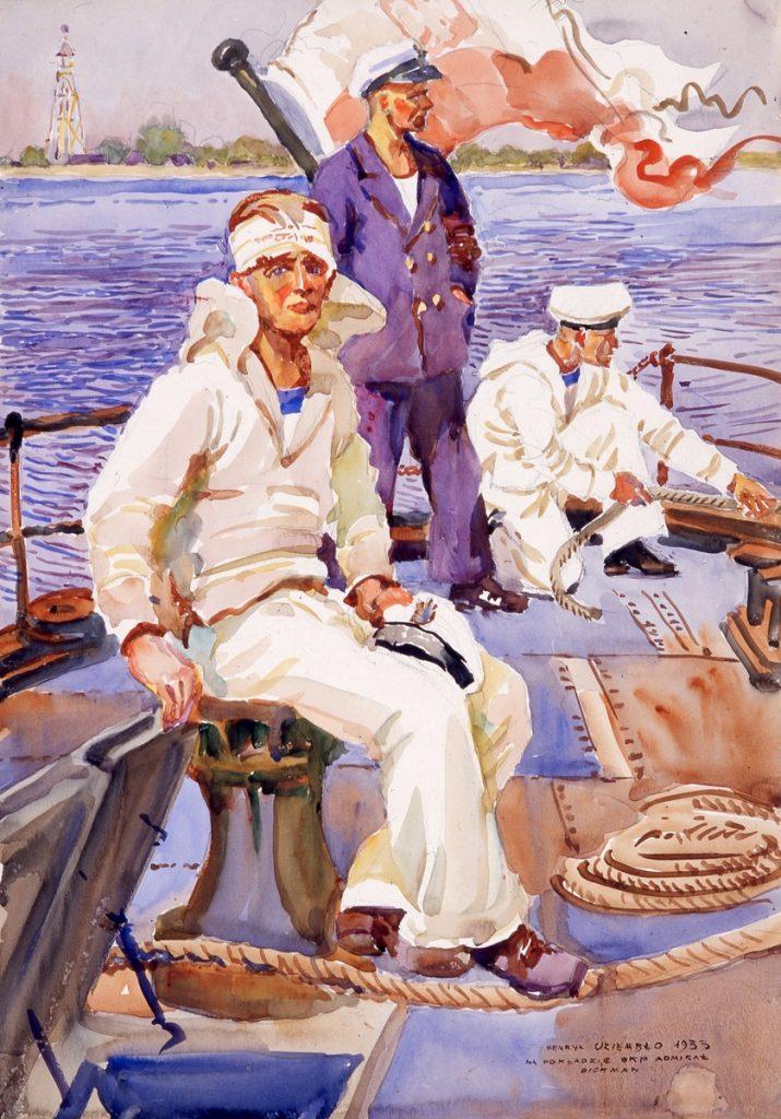 """Obraz Henryk Uziembło, """"Na pokładzie ORP Admirał Dickman"""""""