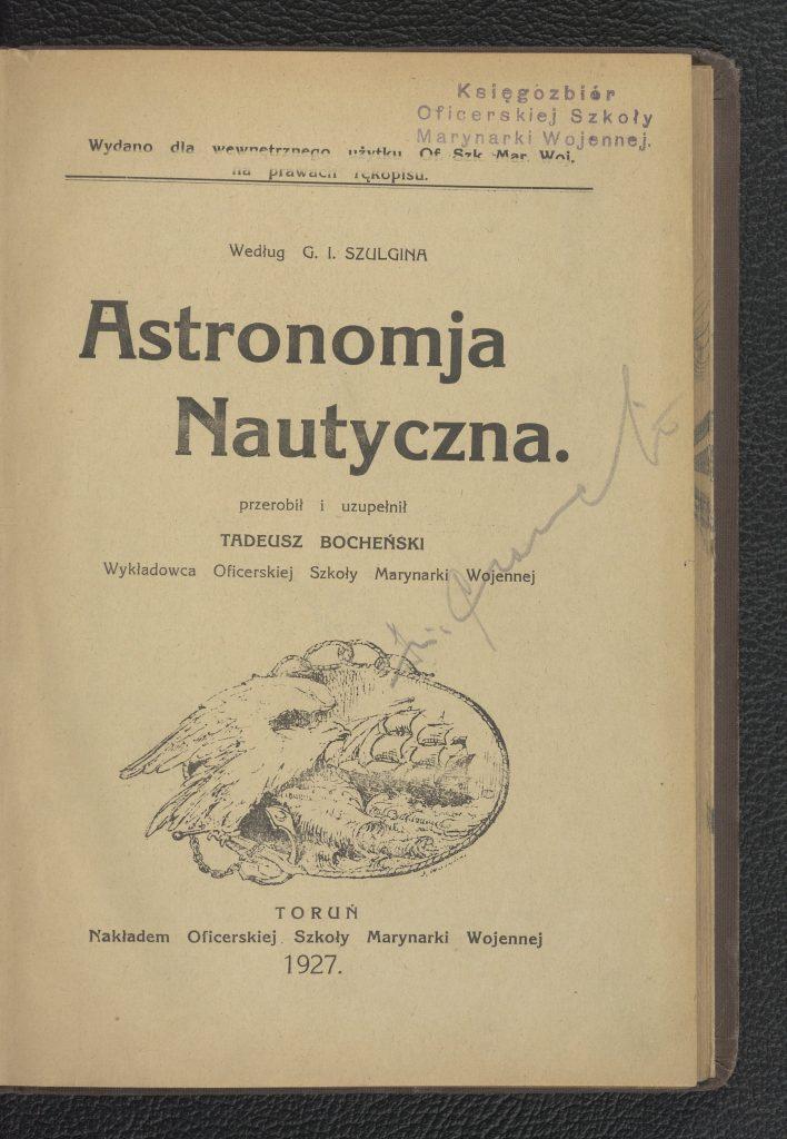okładka książki z tytułem, autorem i grafiką z orłem i żaglowcem