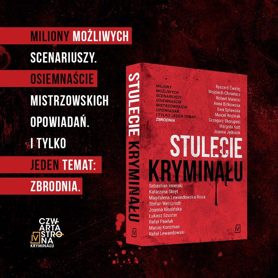baner z okładką książki Stulecie Kryminału i tekstem reklamowym