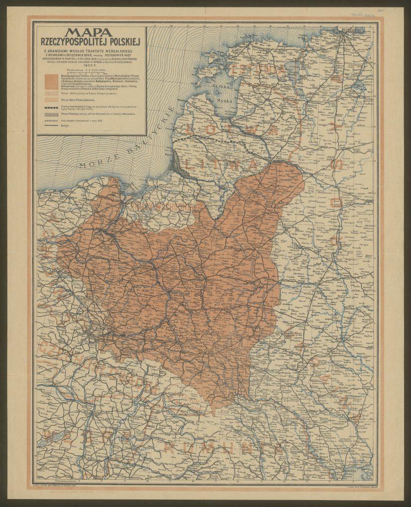 archiwalna mapa II rp