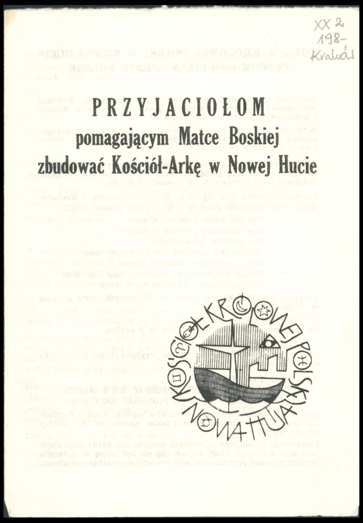 Okładka broszurki z tytułem i logo