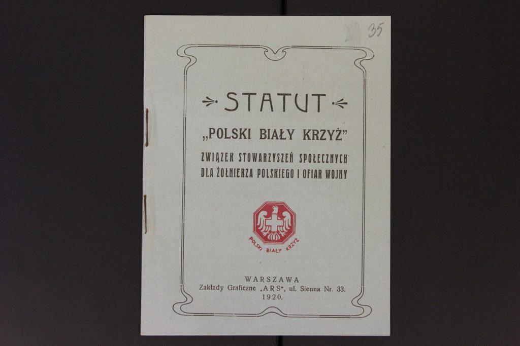 książeczka z tytułem Statut Polskiego Białego Krzyża