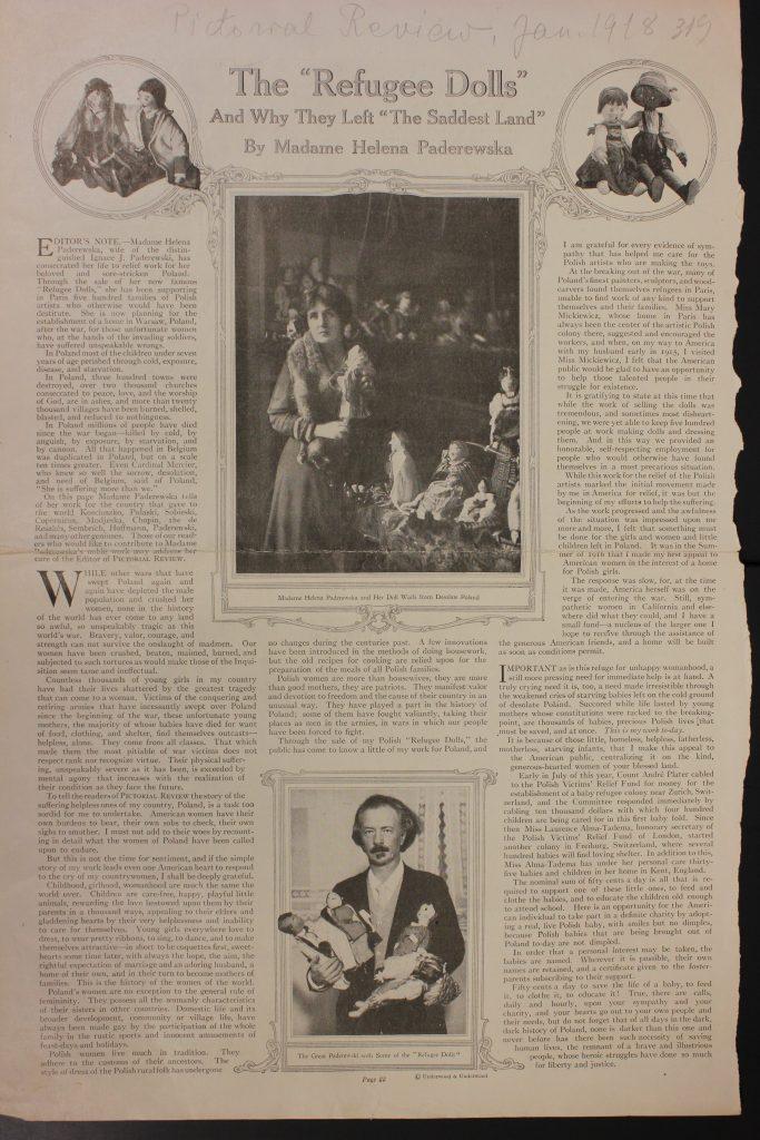 strona z gazety z dwoma zdjęciami i tekstem po angielsku