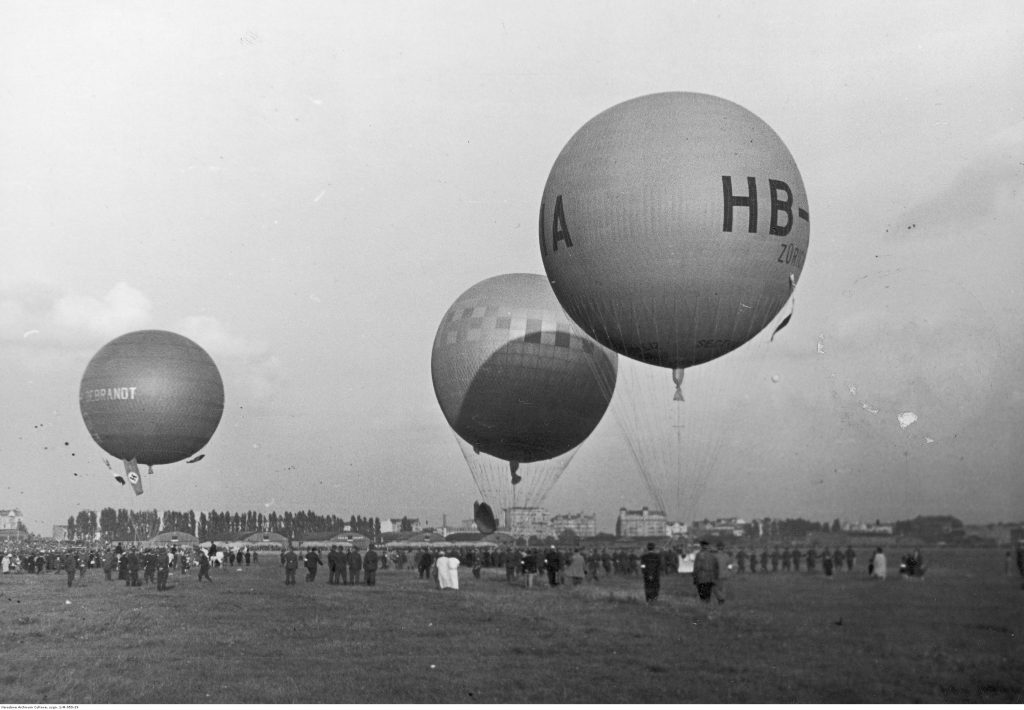 Balony podczas startu.