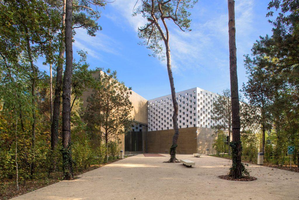 gmach muzeum wśród drzew