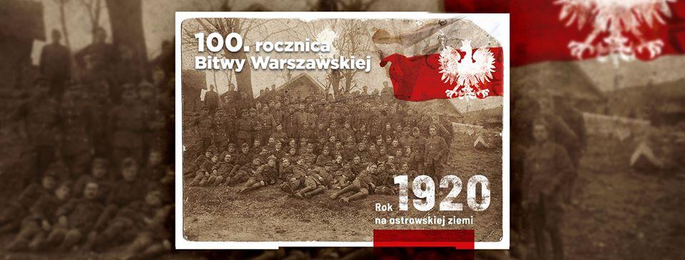 Zdjęcie przedstawia baner wydarzeń w ramach 100. Rocznicy Bitwy Warszawskiej