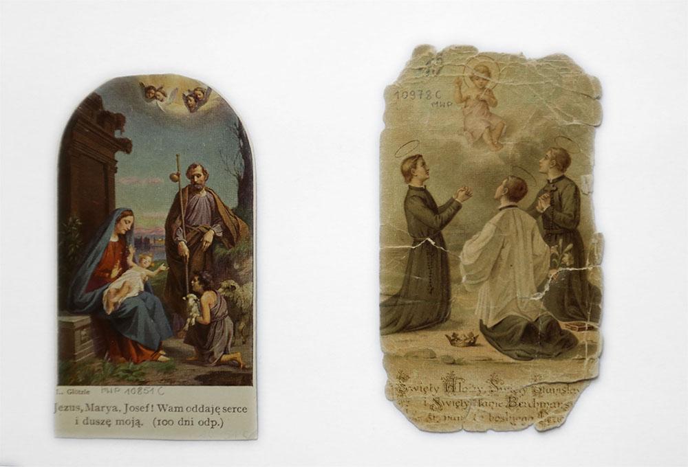 poszarpane obrazki święte - awers