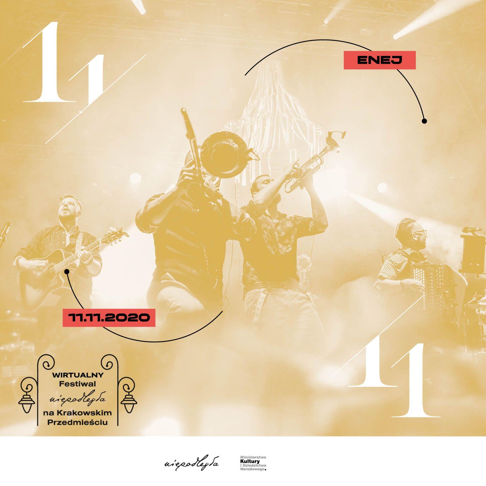 plakat z członkami zespołu Enej