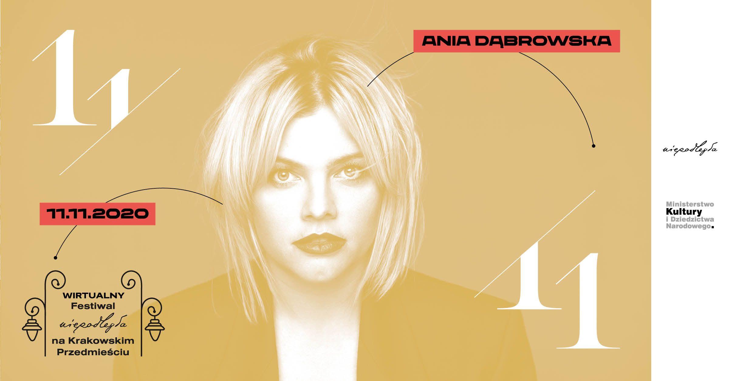 plakat z Anią Dąbrowską