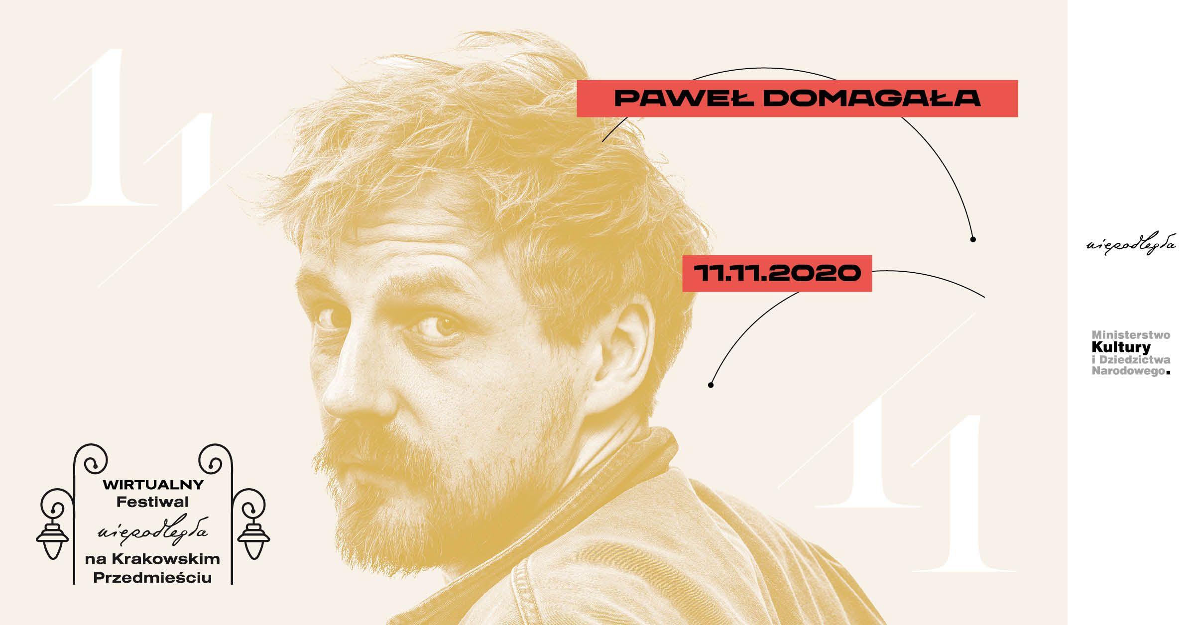 plakat z Pawłem Domagałą