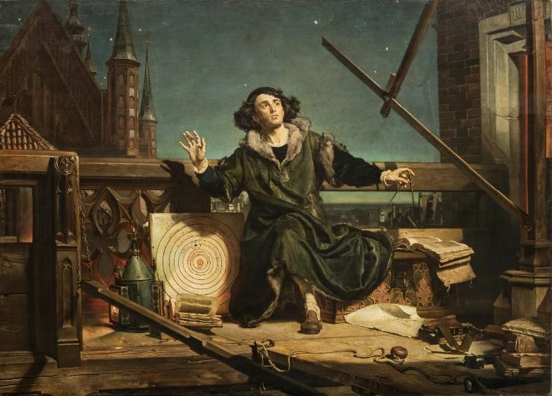 """dziełu Jana Matejki pt. """"Astronom Kopernik, czyli rozmowa z Bogiem"""""""