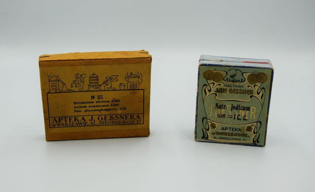 dwa pudełka po lekach