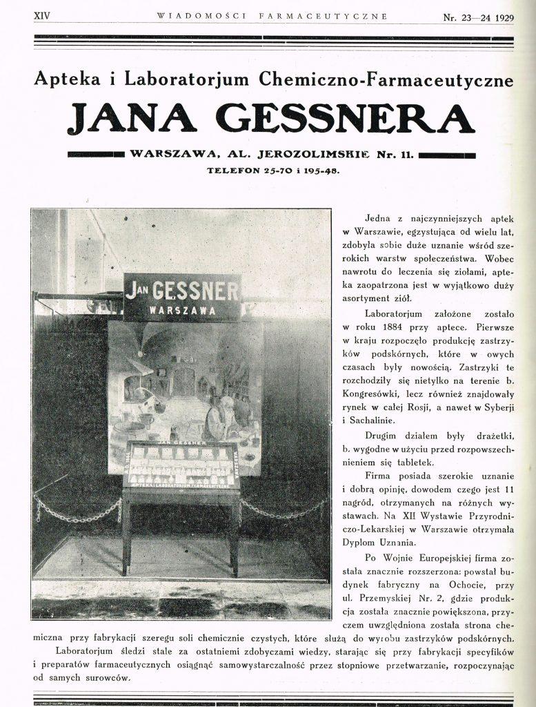 reklama ze zdjęciem i opisem stylizowana na artykuł w gazecie