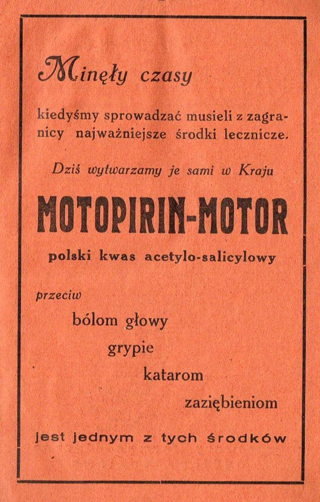 drukowana reklama, tekst w ramce