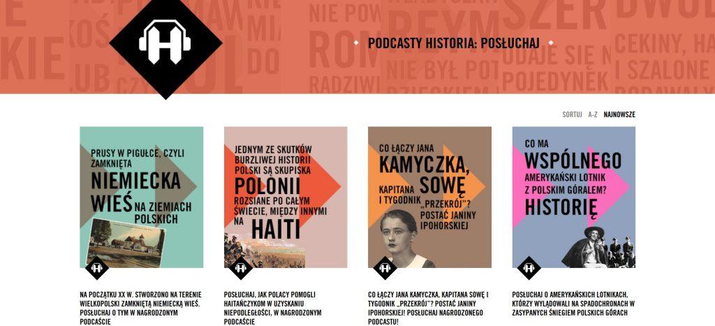 screen strony z tytułem i kafelkami