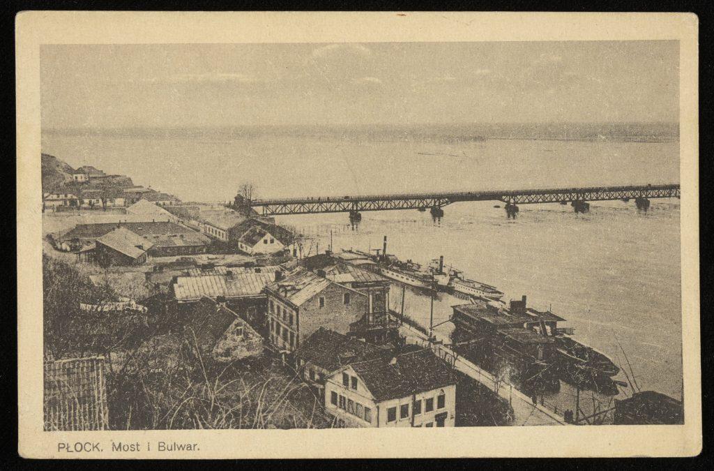 widok na miasto, Wisłę i most