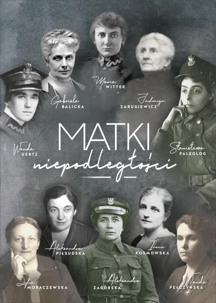 baner z 10 podpisanymi postaciami kobiecymi